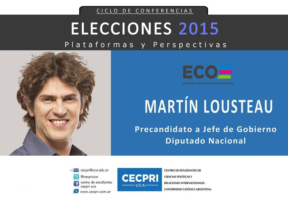 Martín Lousteau brindó una conferencia en la UCA
