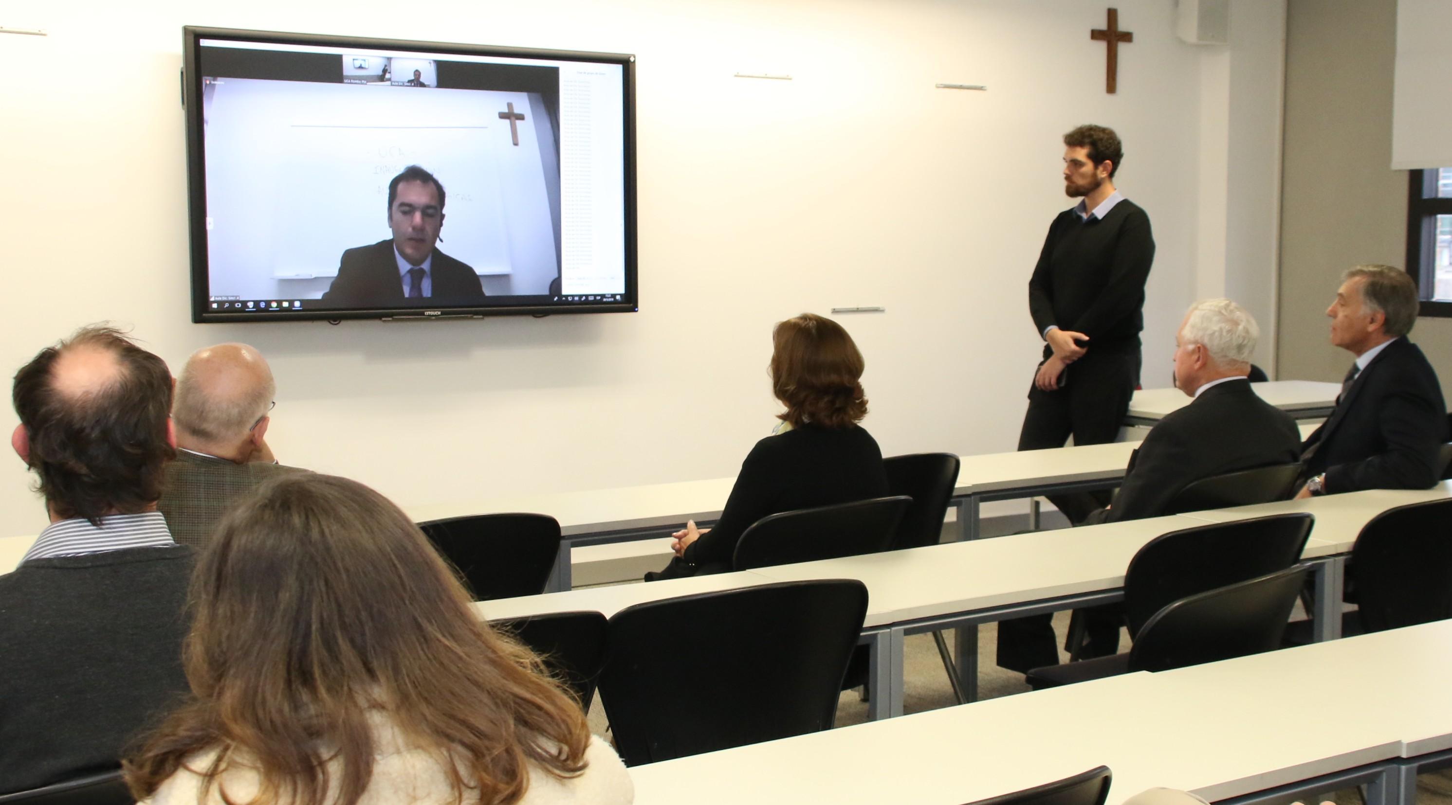 Nuevas aulas tecnológicas conectan las cuatro sedes de la UCA a distancia