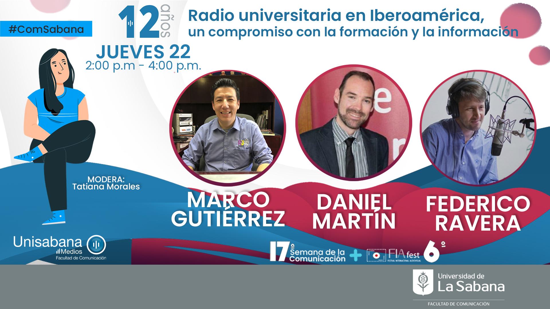 Radiofónicos en la Universidad de la Sabana