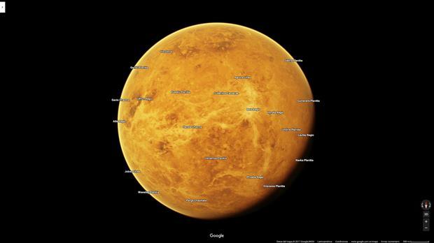 Google Maps ahora permite visitar planetas del Sistema Solar