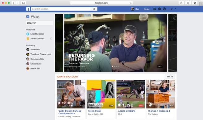 Facebook presenta ¨WACHT ¨