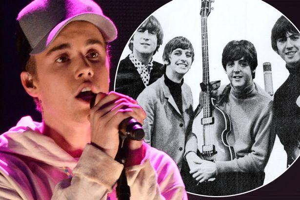 Justin Bieber superó un record de los Beatles