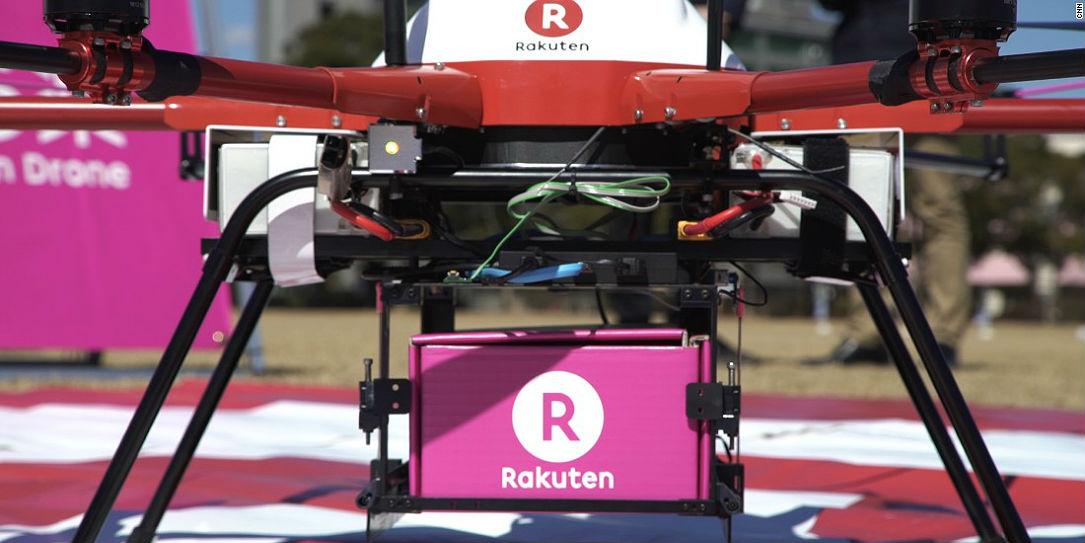 Ya se usan drones para repartir comida en Fukushima